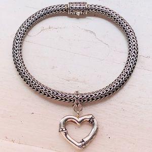 John Hardy Sterling Silver Bamboo Heart Bracelet